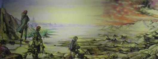 Frodo, Sam, Gollum in Emyn Muil